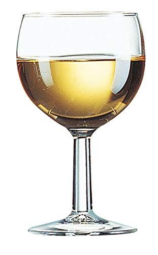 Arcoroc ARC 11052 Ballon Weißweinkelch, Weinglas, 190 ml, Glas, transparent, 12 Stück