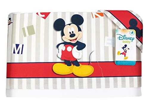 Set lenzuola topolino mickey mouse ec0205wd 3 pz lenzuolino (rosso)