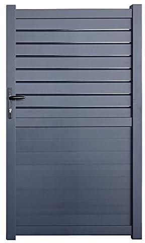 "Portillon aluminium ""Manchester"" 1m gris"