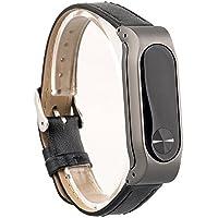 VAN+ Cuero ajustable Unisex correa de pulsera reemplazo para Xiaomi Mi banda 2 inteligente brazalete