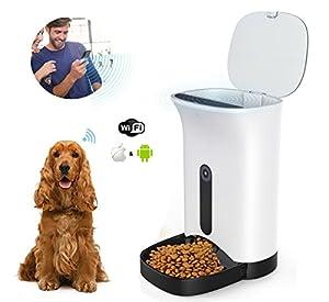 Home-Neat Distributeur automatique de nourriture pour chiens et chats - Caractéristiques Alarmes de distribution, Webcam et enregistreur vocal - Minuterie programmable jusqu'à 4 repas par jour