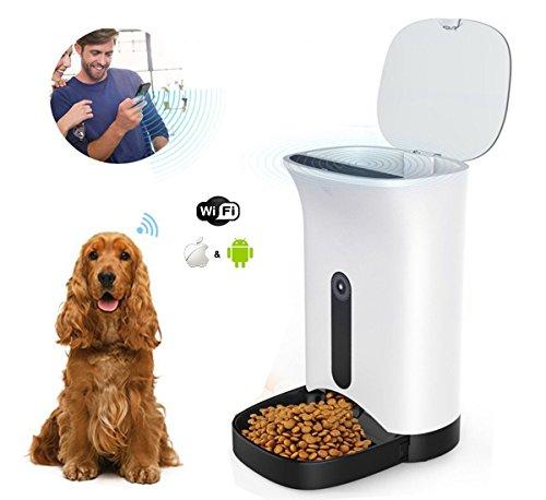 home-neat dispensador automático de comida para perros y gatos–