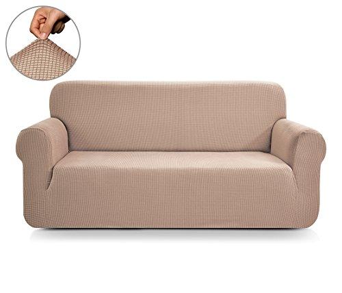 CHUN YI 1-Stück Jacquard Stretchhusse für Sofa, mehrere Farben (2-sitzer, Sand)