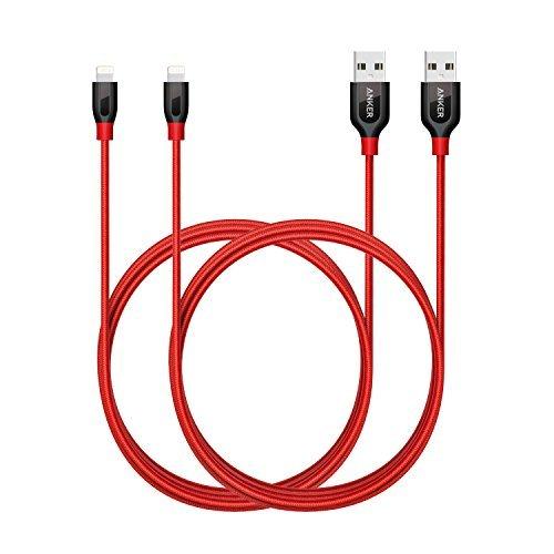 Anker Powerline+ Lightning Kabel [2-Pack] 1,8m Apple iPhone iPad Ladekabel für Das iPhone XS/XS Max/XR/ iPhone X/ 8/8 Plus/ 7/iPad und mehr (Rot) (Ipod 5. Generation Fällen Billig)
