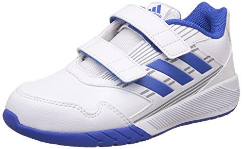 adidas BA9417, Zapatillas de Deporte Interior Unisex Niño, Varios Colores (Ftwbla / Azul / Grimed), 28 EU
