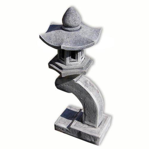 lanterna pagoda giapponese, arenaria grigio, 1 livello, decorazione importata di thaïlande (10528)