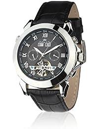 Lindberg & Sons hombre-reloj analógico de cuarzo de cuero LS904