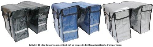 große 46 liter TREKKING FAHRRADTASCHE GEPÄCKTASCHE Doppelpacktasche aus BISONYL Schwarz