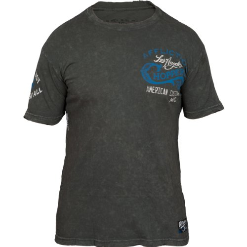 Affliction T-Shirt LA Choppers Grau Grau