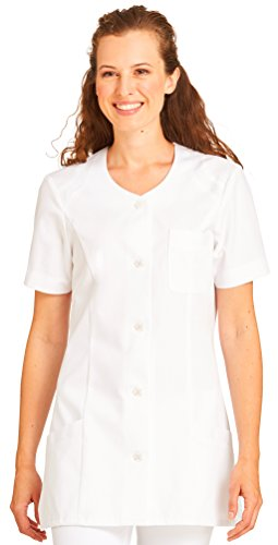 clinicfashion Kurzkasack weiß für Damen, Baumwolle, Größe 34-52 Weiß