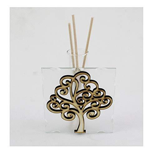Dlm29554 profumatore in vetro albero della vita life tree diffusore per ambienti profumo matrimonio battesimo comunione bomboniera