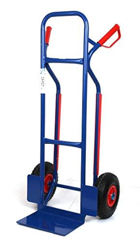 Sackkarre, Gleitkufen 250 KG blau, 111x50x53 cm (Transportkarre Stapelkarre Handkarre) thumbnail