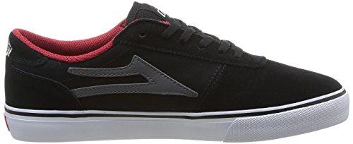 Lakai Manchester, Chaussures de skateboard homme Black Grey Suede