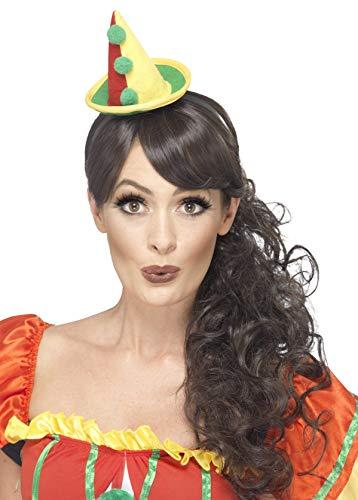 icher Clown Hut mit Bommeln, One Size, Bunt, 45546 ()