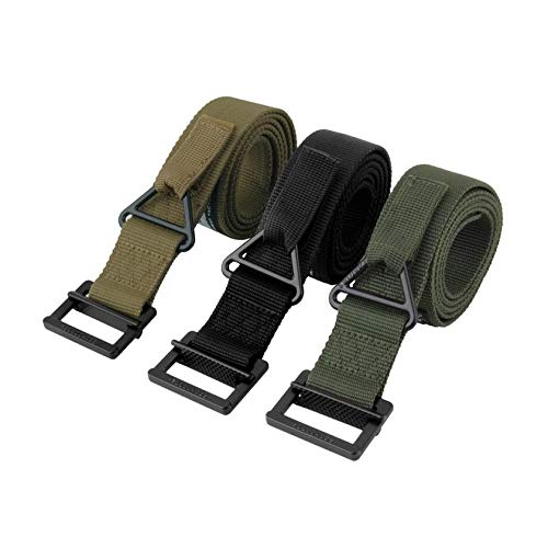 GFGHH Nylon and Metal Adjustable Survival Tactical Belt Emergency Rescue Rigger Militaria CQB for Field Operations, Riding, Hunting