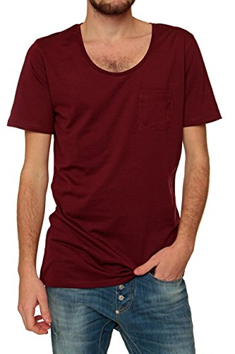 Kultivate Herren Shirt T-Shirt TS B LONG POCKET CM Bordeaux