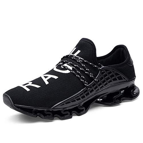 New Men Shoes 2018 Human Race Unisex Lace-up Sneakers Men Sport Breathable Mesh Letter Shoes Size 37-48 Sneakers for Men XX-005 Black 6