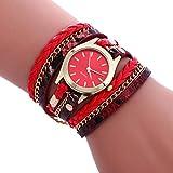 XBY.mi 1PCS Damenuhr der roten Mode romantische Dame