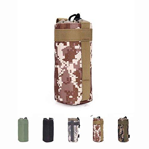 Military Water Bottle Bag Outdoor Tactical Kessel Tasche f¨¹r Camping Wandern Desert Digital