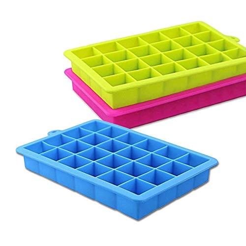 3 Pack 3 Farbe DIY Silikon Eiswürfelschale Eiswürfelform Küche Parteien Bars Liefert (Für Parteien Boden-abdeckungen)
