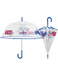 PERLETTI 25997 Lady 61/8 - Paraguas con Forma de cúpula de Auto, Transparente
