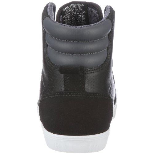Hummel SLIMMER STADIL HIGH 63114, Unisex - Erwachsene, Sneaker Schwarz/Black/Castle Rock
