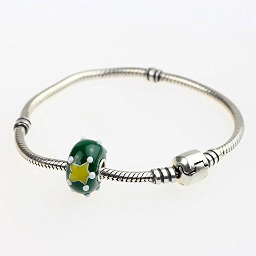 Hunter merry christmas-perles en verre de murano-argent 925/1000 compatible avec pandora, & similaires bracelets - 3 mm Christmas Star