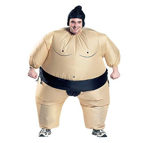 XXLLQ Aufblasbares Kostüm Erwachsene/Kind aufblasbare Sumo Ringer -Partei-Kostüm Lustige Inflatable Costume Party Fancy Cosplay Outfit Anzüge für Halloween Fasching Karneval,Black,Adult -
