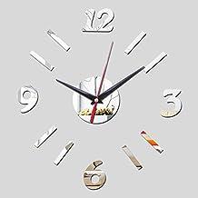 Lxlnxd Pastoral De Acrílico De Cuarzo Reloj De Pared En La Decoración Del Hogar Moderno De Lujo Relojes De Réplica Relojes De Cristal De 40Cm X40Cm.