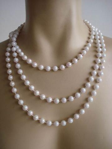 Las Party Vegas Kostüm Thema - Foxxeo 20er Jahre Perlenkette für Damen 180cm für Charleston Kostüm Fasching Karneval