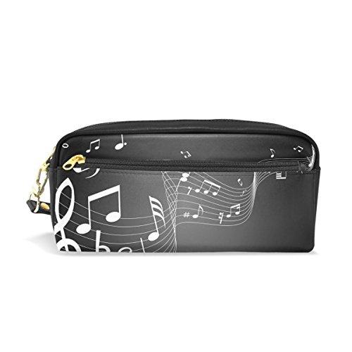 jstel Noten Musik Schule Bleistift Tasche für Kid Jungen Kinder Teens Stifthalter Kosmetik Make-up-Tasche Frauen Haltbare Stationery Pouch Bag großes Fassungsvermögen -
