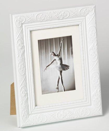 Bilderrahmen von Walther Holzrahmen Barock 13x18 Weiß - Normalglas