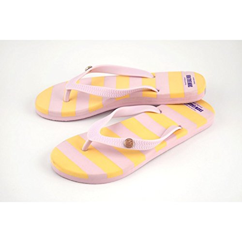 Donna Flip Flops, disponibile in diversi colori - gelb/rosa