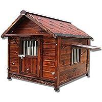 Cama para mascotas Perro de madera grande Kennel Villa Casa del animal doméstico al aire libre