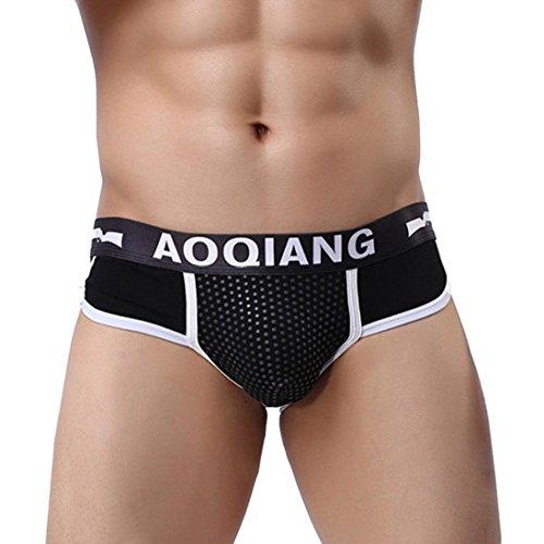 Ba Zha Hei Pantalones Cortos de los Calzoncillos del Boxeador de los Hombres de la Moda Calzoncillos Suaves de la Ropa Interior del Bulto de la Ropa Interior del algodón Boxer Underwear Underpants