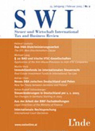 Steuer & Wirtschaft Internat. Einbanddecke