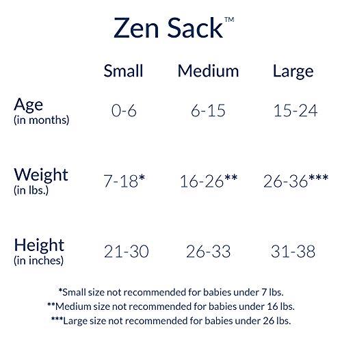 Nested Bean Zen Sack Classic - Adjustable Cotton Wearable Blanket | Baby Sleeping Bag (6-12 Months)(Stardust Grey)