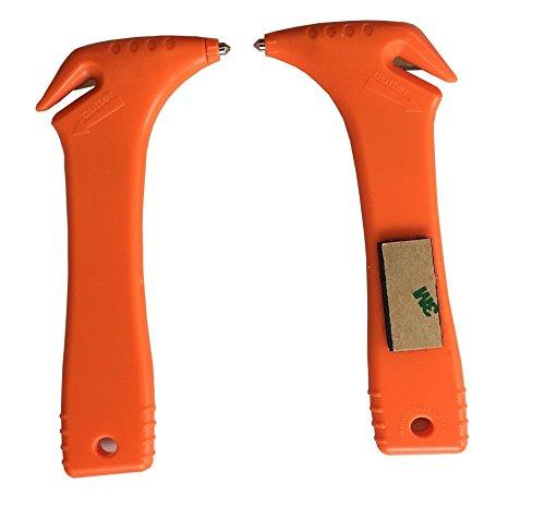 2 Stück LISSEK Notfall Hammer Nothammer Gurtschneider Halterung Kfz PKW LKW Sicherheit
