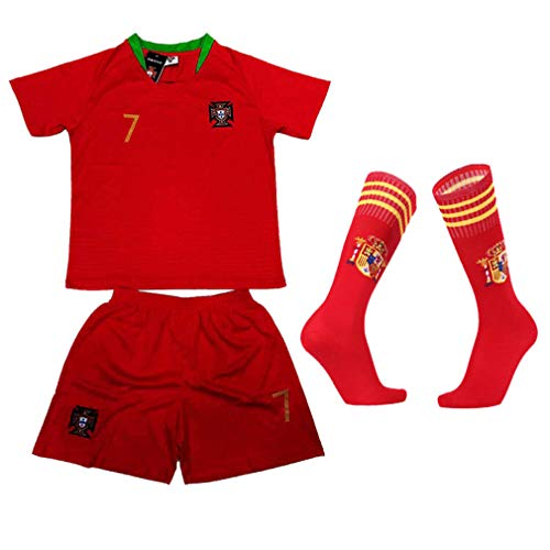 Shorts verano fútbol Portugal Home # 10 Shorts deportivos