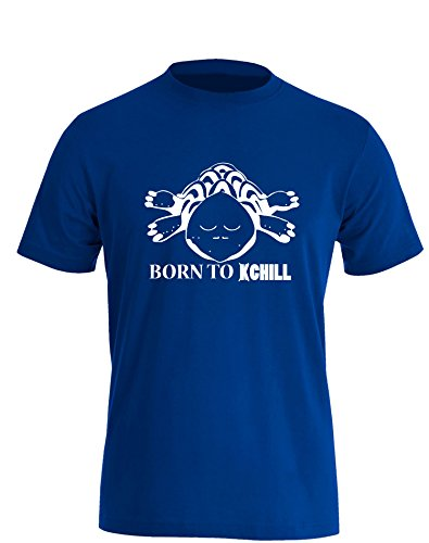 Born to Chill - Herren TShirt Royal / Weiß