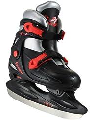 American Calzado deportivo Cougar ajustable patines de hockey, Negro, XS/6–9años