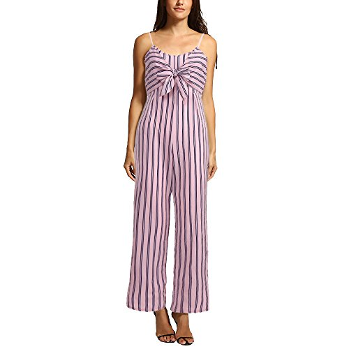 SIOPEW Womens Clubwear Strappy Gestreifter Overall Body Bodysuit Party ()