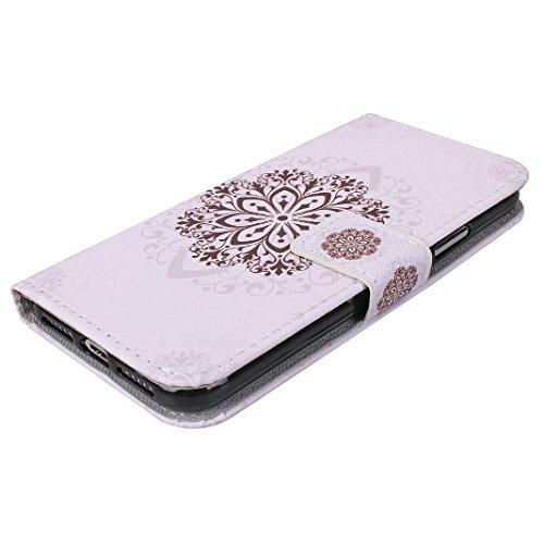 Custodia Moda Per iPhone X, Asnlove PU Pelle Caso Funzione Portafoglio Cover Motif di Colore Cassa Flip Libro Case Bumper Antiurto Protezione Completa Shell Per iPhone X - Colore 5 Colore-2
