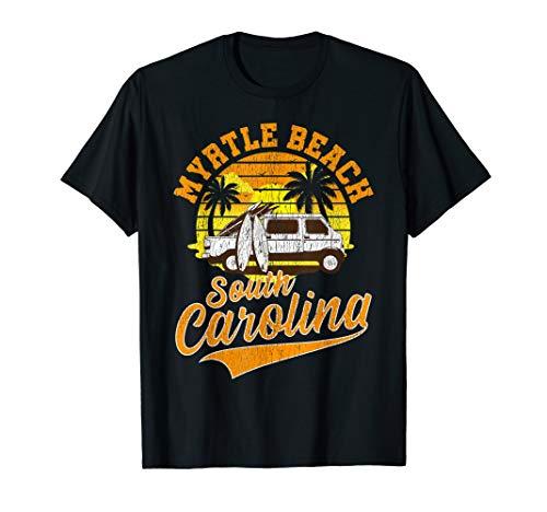 Vintage Myrtle Beach South Carolina Sunset Vacation T-Shirt - South Carolina Rot Shirts