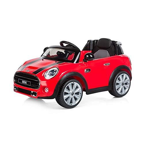 Babycar 198R-Elektrisches Auto für Kinder Mini Cabrio Full optional mit Fernbedienung, 12V, rot - Cabrio Autositz Kind