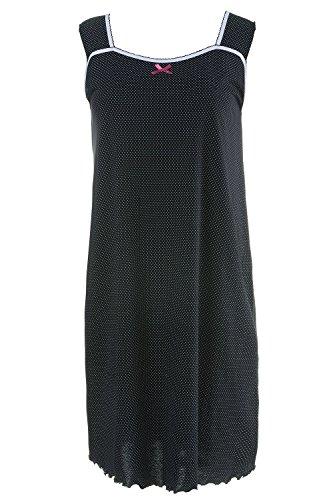 Ulla Popken Femme Grandes tailles Ensemble de Pyjama Femme - Confortable - Lot de 2 704508 noir, carmin