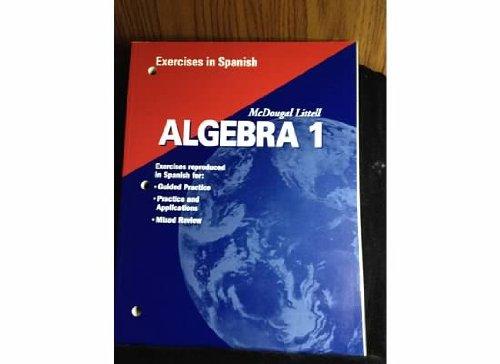 Algebra 1, Grades 9-12 Exercises in Spanish: Mcdougal Littell High School Math por Holt Mcdougal