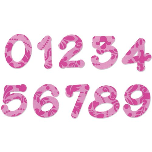 Sizzix Bigz Alphabet Set 2Stirbt–Lollipop Shadow Zahlen von E.L. Smith (Fabi Edition)