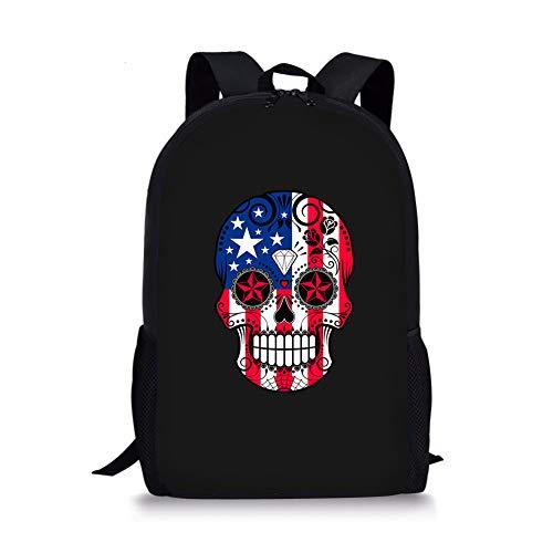 POLERO Cartoon-Schädel Große kühle Schultasche Nette Kinder Durable Personalisierte Rucksack Bookbags -