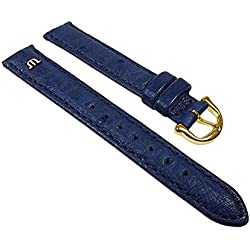 Maurice Lacroix Replacement Band Watch Band Ostrich Leather Strap blue 22628G, width:15mm